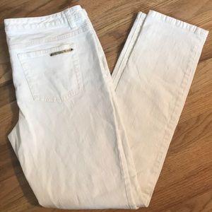 Michael Kors White Skinny Leg Jeans Size 10
